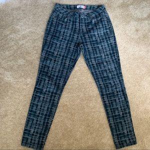 Cabi Blue Grid Skinny Jeans